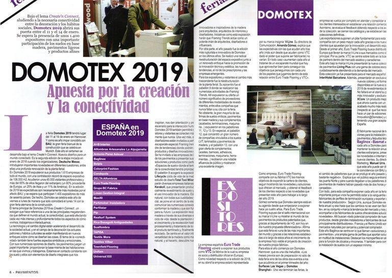 Reportaje V-Line Domotex 2019